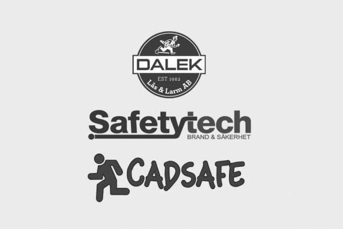 Dalek, Safetytech, Cadsafe logos