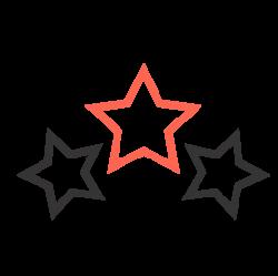 Stjärnor symbol, motiverade ledare